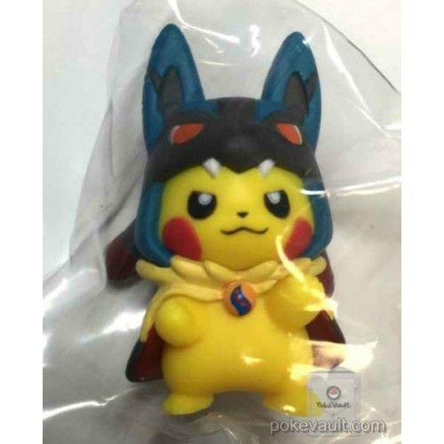 Pokemon Center 2016 Poncho Pikachu Series #1 Mega Lucario Gashapon Figure