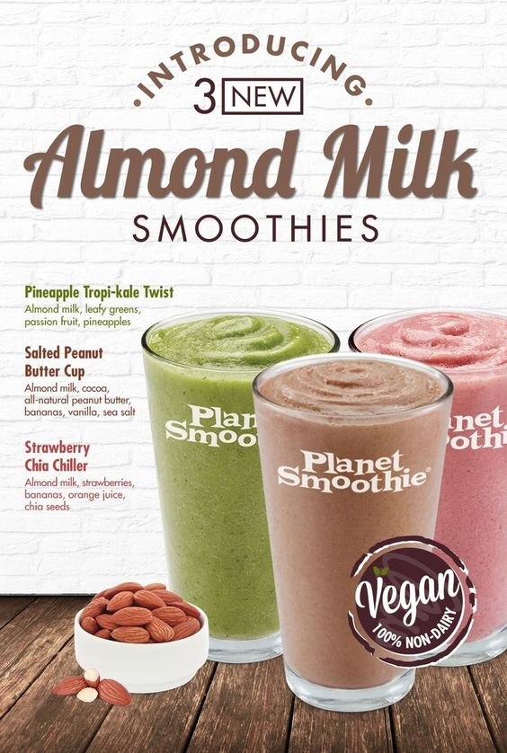 Planet Smoothie Launches Dairy-Free Smoothies with Almond Milk