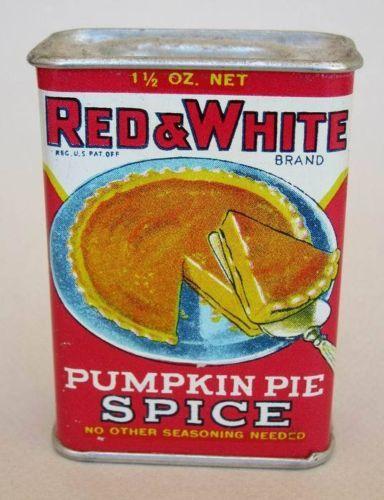Red & White Pumpkin Pie Spice Tin: