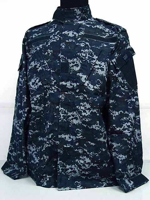US Navy BDU Field Uniform Set Digital Navy Blue Camo ...