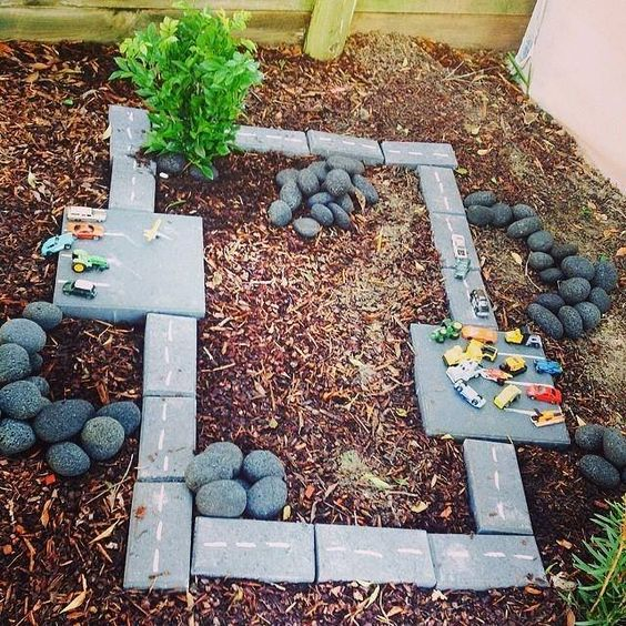 "Lovely area for small world play outdoors from 'Erin' - image shared by Five Star Family Day Care Maitland ("",)"