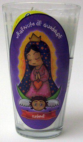Veladora Virgencita de Guadalupe - Cuidame - Our Lady of Guadalupe Candle $2.95