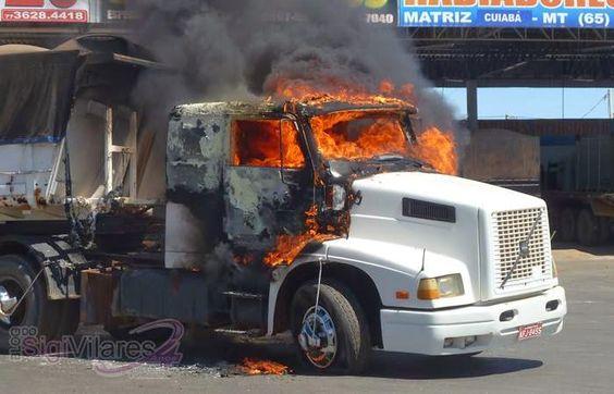 LUIS EDUARDO MAGALHÃES: Três carretas são incendiadas em posto de combustíveis na cidade