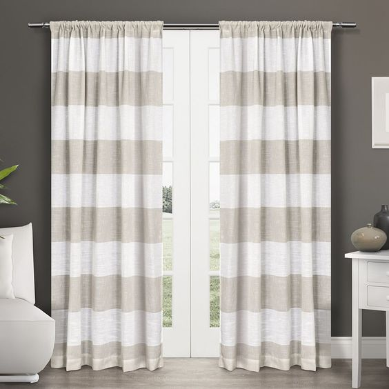 ATI Home Darma Semi Sheer Rod Pocket Window Curtain 84 - 108-inch Length Panel Pair | Overstock.com Shopping - The Best Deals on Curtains