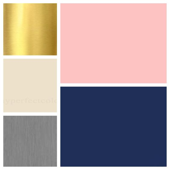 Wedding Colors Blush Navy Ivory Gold Grey Flower