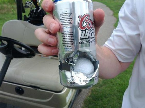 Hole in one...or a wasted beer? How would you call it?