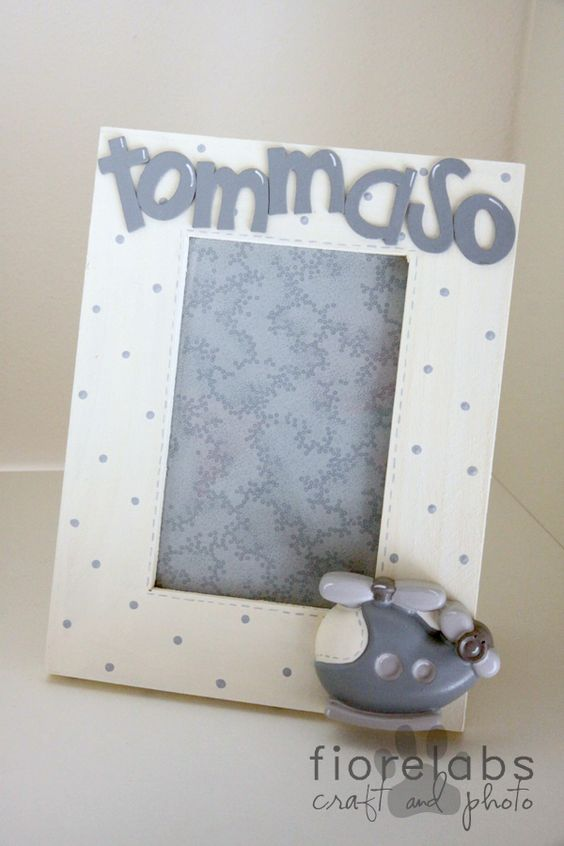 Countrypainting: baby frame
