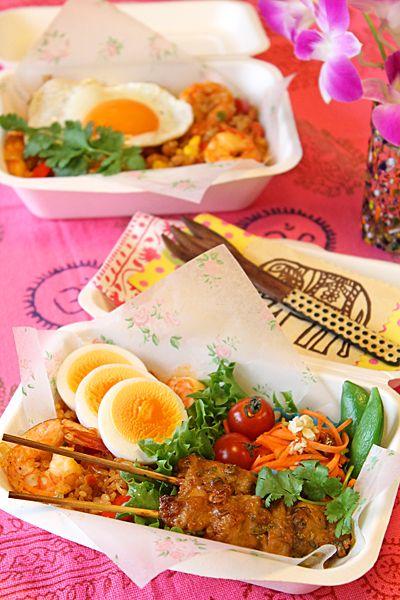 ナシゴレン&サテでインドネシアピクニック弁当☆ - ぱおのおうちで世界ごはん☆
