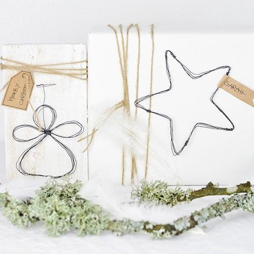 Weihnachtsdeko Selber Machen Engel Und Stern Aus Draht In 2020 Weihnachtsdeko Selber Machen Engel Basteln Sterne Weihnachtsdeko