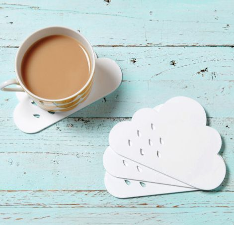 love these little rain cloud coasters