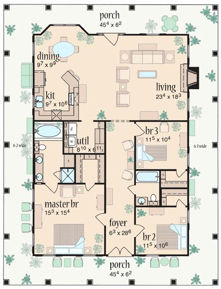 Pin By Darci On Build Build Build In 2020 Porch House Plans Country Style House Plans House Plans