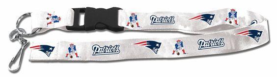 New England Patriots Lanyard - Breakaway with Key Ring - Retro Style