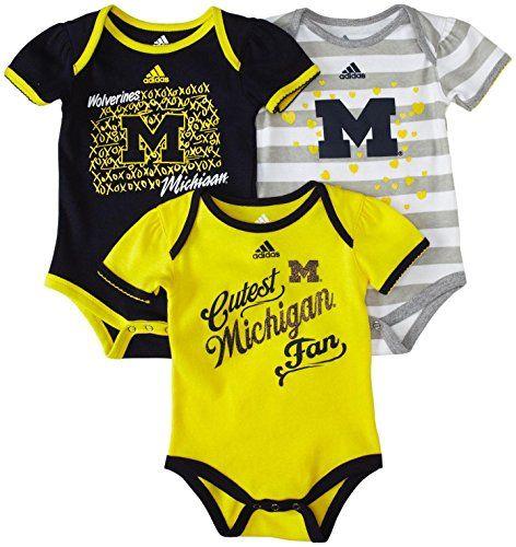 Adidas Infant 3Pc Girls Lil Fan Bodysuit Set - Michigan - 12M null http://www.amazon.com/dp/B00PGVCRGI/ref=cm_sw_r_pi_dp_OvcJvb1GRCW8Q