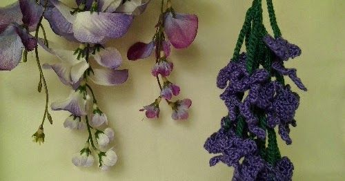 A Slightly Challenging Free Pattern For A Realistic Crocheted Wisteria Flower In 2020 Crochet Flower Patterns Crochet Flowers Crochet Plant