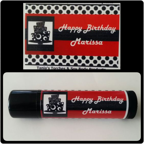 Party Favors / 15 Personalized Natural Lip Balms / Birthday Party Favors / Chapstick Party Favors by TaniasTorches on Etsy