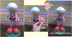 Moldes para Todo: Fofucho Capitán América