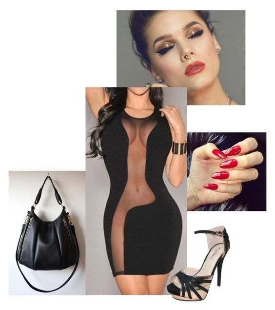 """""""Black short dress two"""" by puddycatshoes ❤ liked on Polyvore featuring Anne Michelle"""