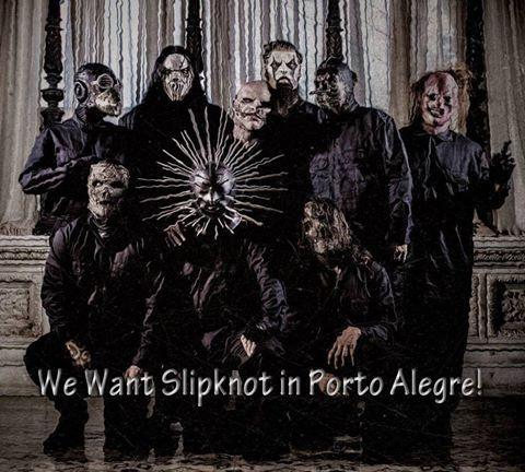 Foto de Fãs do Slipknot Porto Alegre - RS Brasil.
