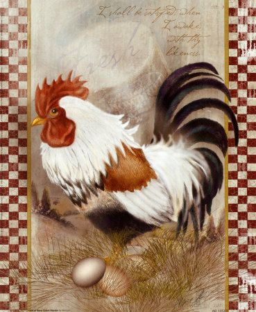 zoom    Coat of Many Colors Rooster  Art Print