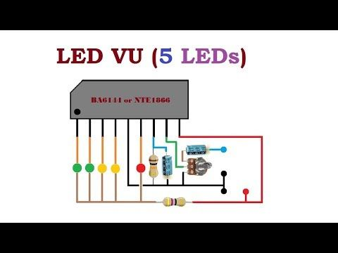 5 Led Vu Youtube Electronic Circuit Projects Electronics Projects Led Lighting Diy