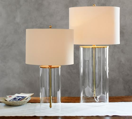 Table Lamp Contemporary Lamps, Square Glass Table Lamp Base