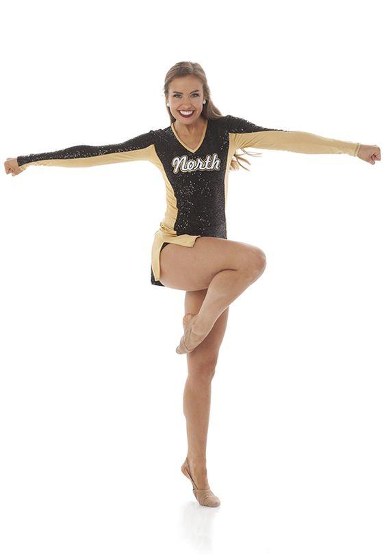 Sparkly pom uniform for dance teams. Cynthia