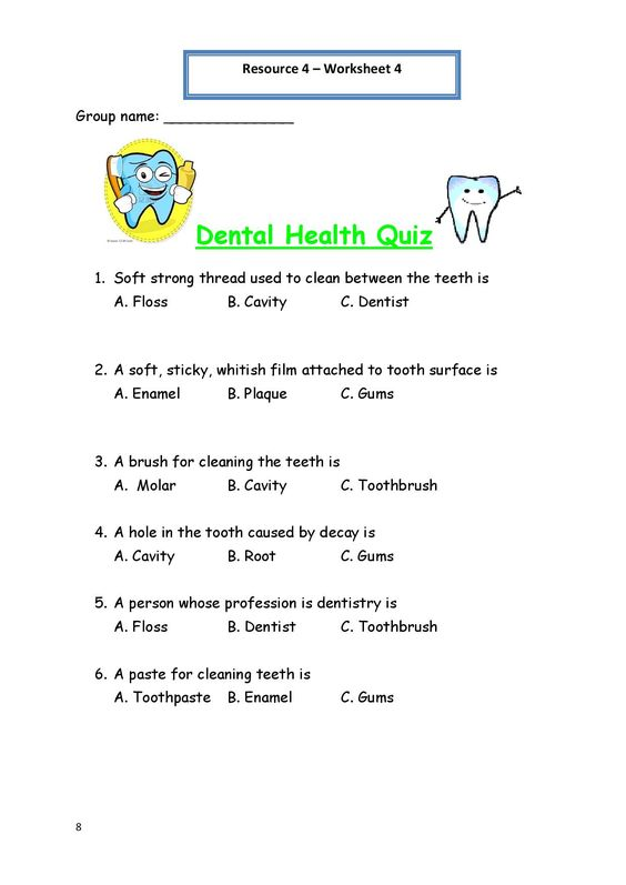 Printables Dental Hygiene Worksheets night health and dental on pinterest printable worksheets for personal hygiene worksheet 4 quiz 212x300 personal