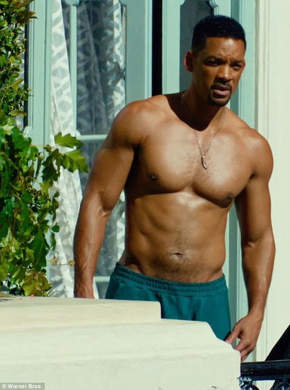 He's still got it! Will Smith displays his chiselled physique at the ripe old age of 46 as...