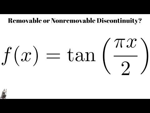 Removable Or Nonremovable Discontinuity Trigonometric Function Example Youtube Trigonometric Functions How To Remove Math Videos