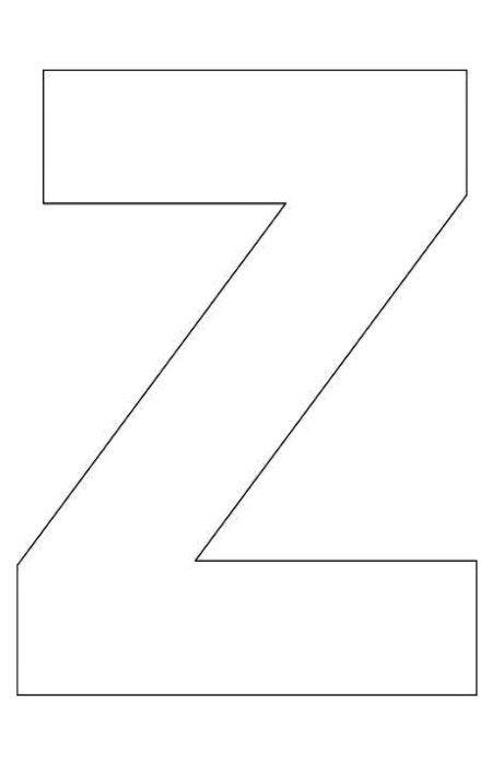 alphabet letter z template for kids abc crafts pinterest