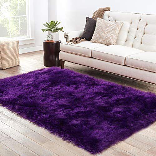 Lochas Ultra Soft Fluffy Rugs Faux Fur Sheepskin Area Rug For Bedroom Bedside Living Room Carpet Nursery Washable In 2020 Living Room Carpet Rugs On Carpet Room Carpet