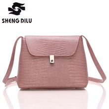 New Arrival 2016 Brief Lady's Cross-body Bags High Quality Genuine Leather Messenger Bag For Women(China (Mainland))