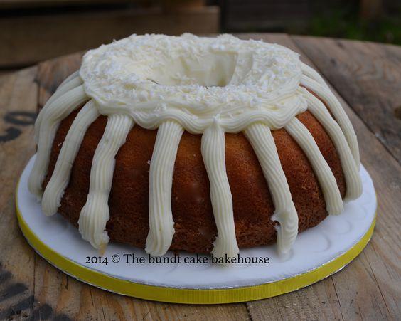 Coconut and almond bundt cake