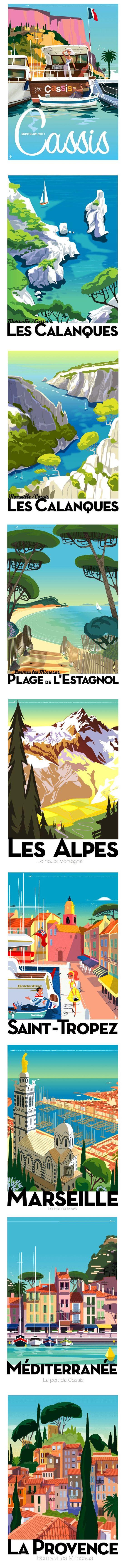 Postcards by Monsieur Z - remind me of good times in beautiful places……réepinglé par Maurie Daboux ༺༻⊰✿