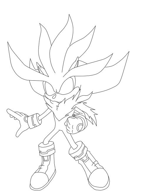 Super Silver The Hedgehog Coloring Pages Silver The Hedgehog Hedgehog Colors Coloring Pages