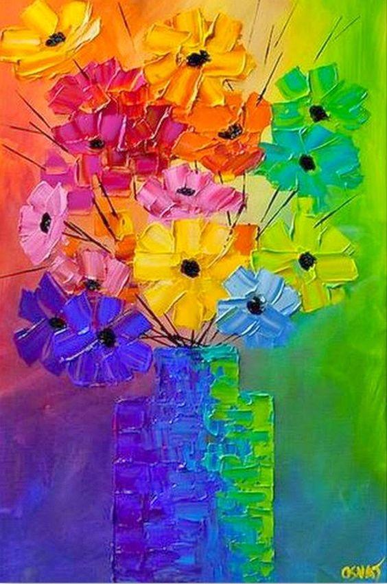 Cuadros faciles de pintar en acrilico manualidades - Como pintar un cuadro moderno ...