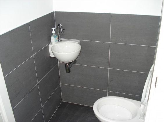 Rond hoekfonteintje woonidee n pinterest badkamer toilet ontwerp en wc - Deco toilet ontwerp ...