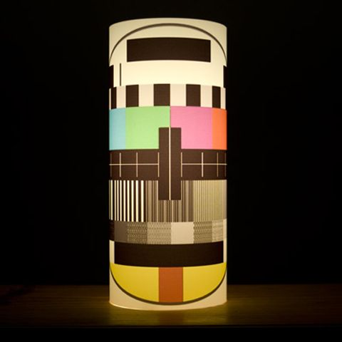 TV Signal Lamp - Limited Edition. It is made with recycled materials, and it looks so cool! By Two Layers Of Cells