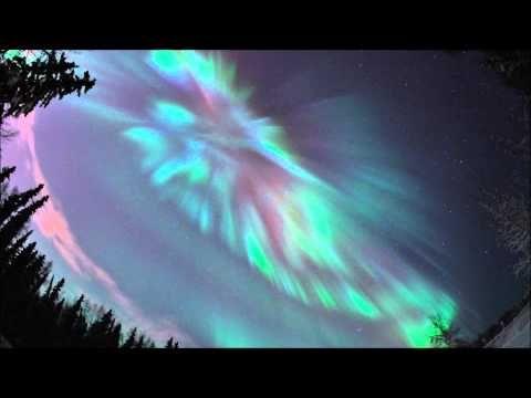 Coronal aurora over Fairbanks, Alaska 2012