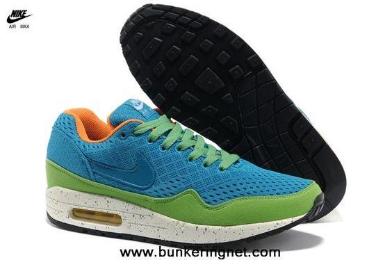 New Blue Green 2013 Nike Air Max 87 Mens Shoes