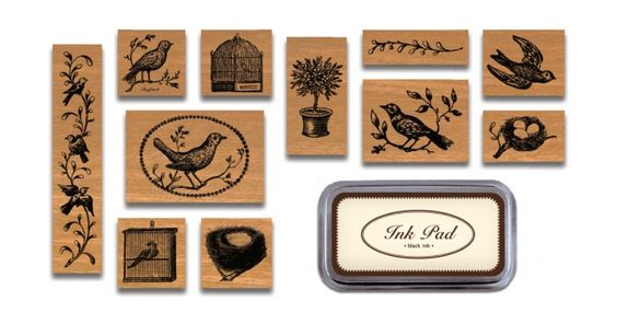 Lovely bird stamps for cookies
