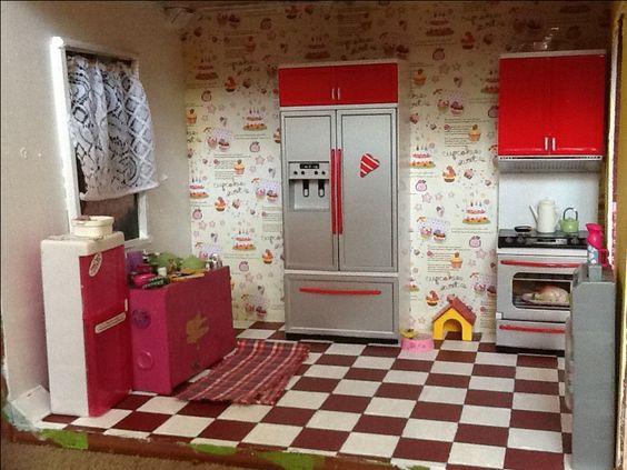 Barbie dollhouse kitch...