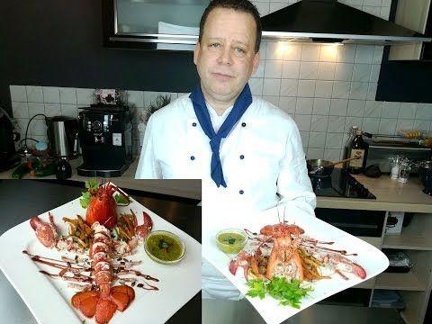 طريقة تحضير سرطان البحر أو الإستاكوزا على طريقة المطاعم الراقية Hummer Fisch Lobster Youtube In 2020 Food And Drink Food