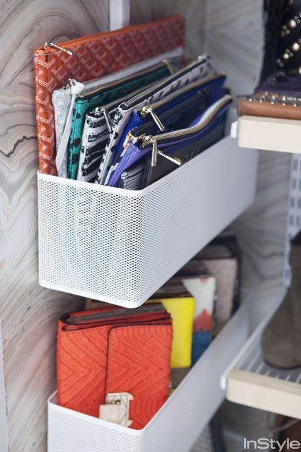 Bags organization. Go inside fashion designer Rebecca Minkoff's gorgeous closet.