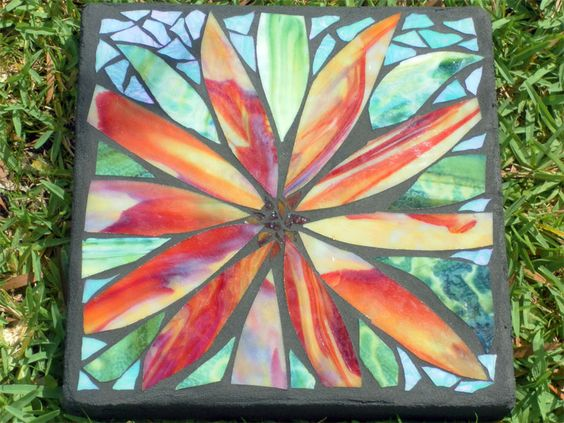 how to make stained glass stepping stones
