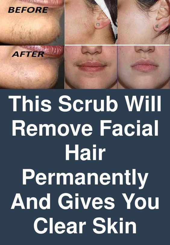 This Scrub Will Remove Facial Hair Permanently And Gives You Clear