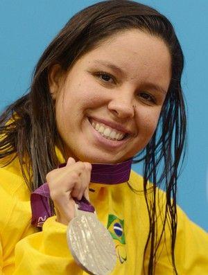 Edenia Garcia - medalha de prata - natação paralimpíadas 50m costas (Foto: Getty Images)