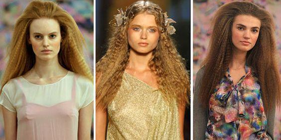 cabelo frizado: