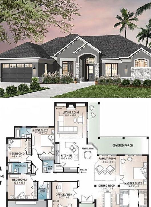 House Plan 4 Bedrooms 3 5 Bathrooms Car Garage Building Plans House House Plans Mansion Best House Plans