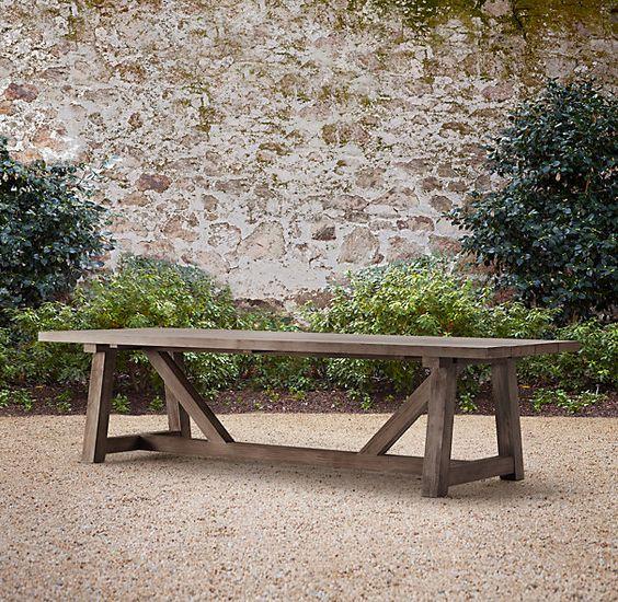 120 Provence Beam Rectangular Dining Table